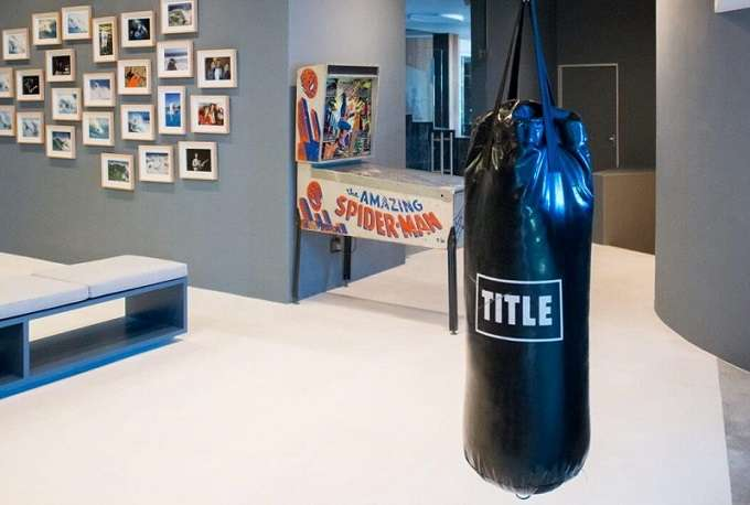 Boxing Bag In Man Cave