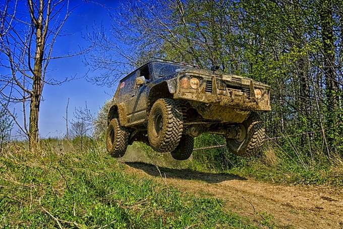 Jumping With Truck