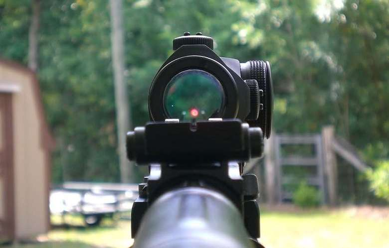 Looking Through Dot Sight