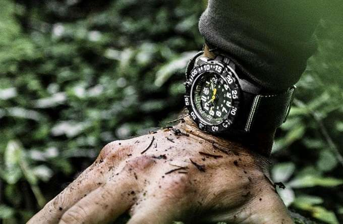 Wearing Military Watch