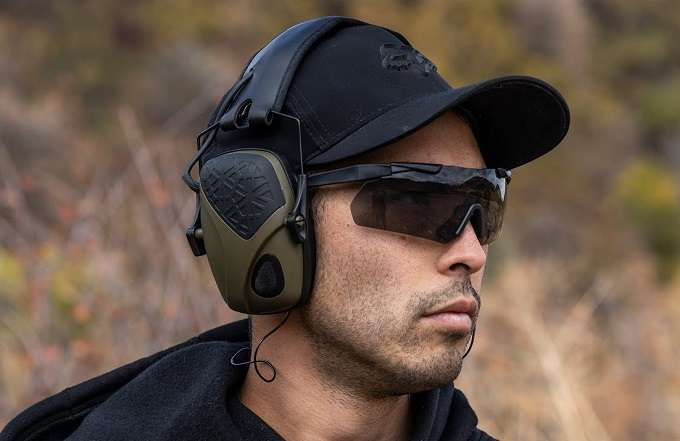 Man Wearing Eye And Ear Protection