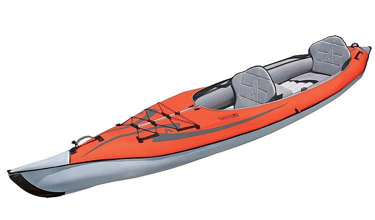 Orange Fishing Kayak