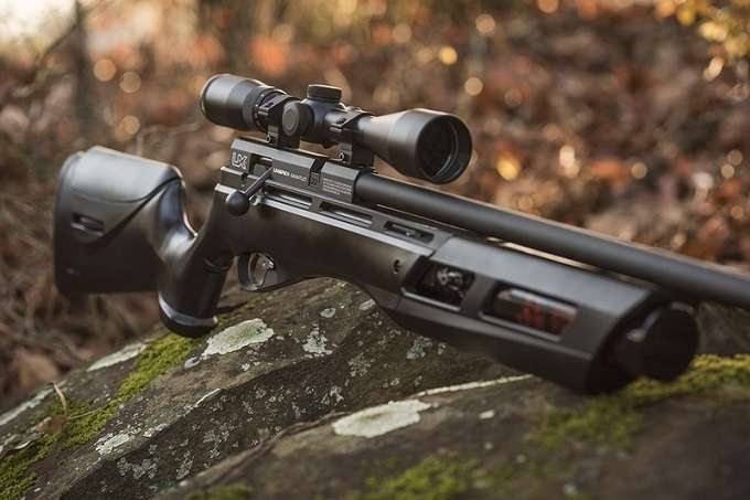 Black Air Rifle With Scope