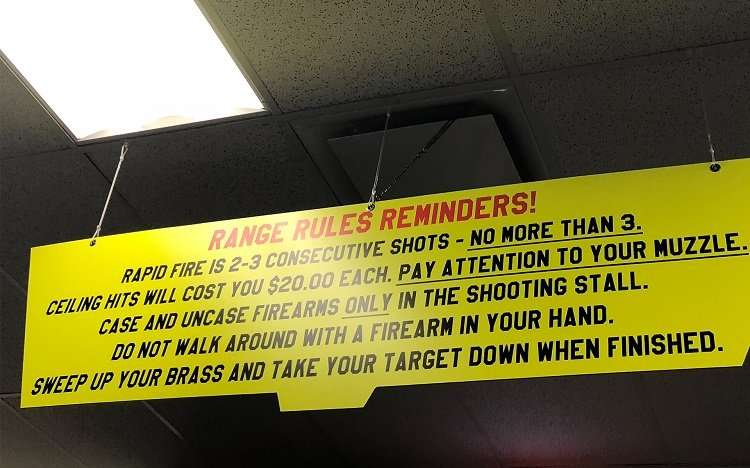 Shooting Range Rules